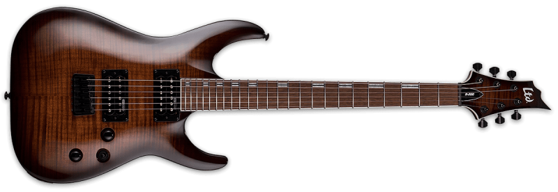 LTD H-200 FM Dark Brown Sunburst
