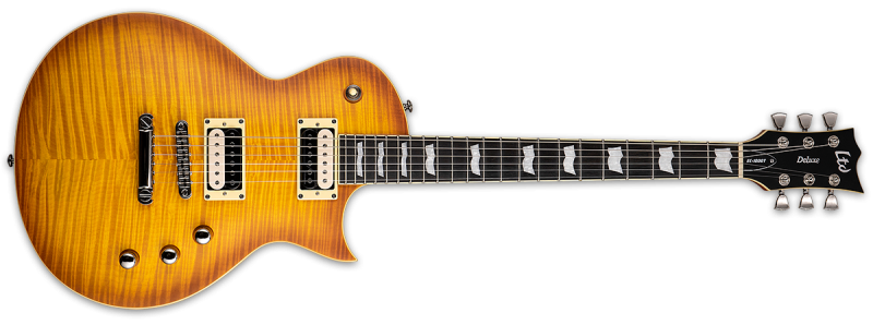 LTD EC-1000T FM Honey Burst Satin Fluence